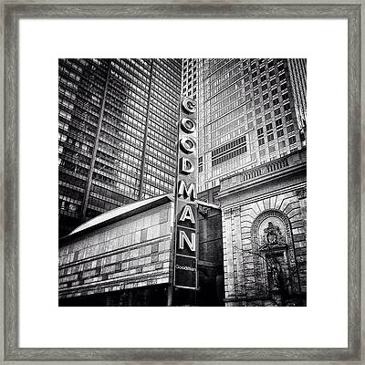 Chicago Goodman Theatre Sign Photo Framed Print