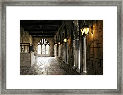 Chicago Halls  Framed Print by Eugene Bergeron