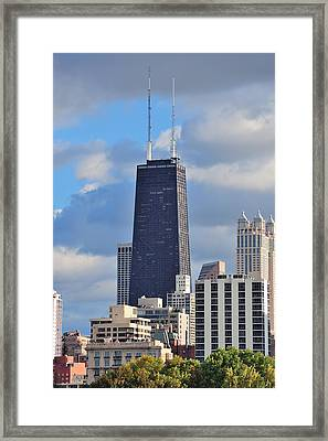 Chicago Hancock Building Framed Print