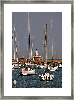 Chicago Harbor Lighthouse Illinois Framed Print by Christine Till