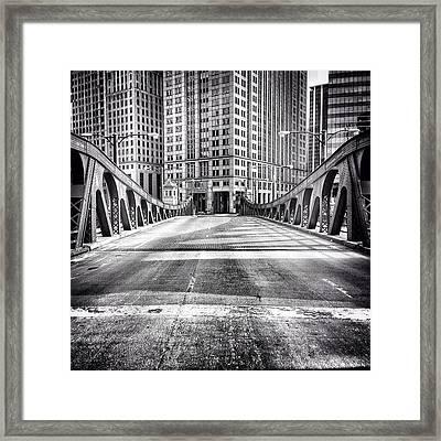 #chicago #hdr #bridge #blackandwhite Framed Print by Paul Velgos