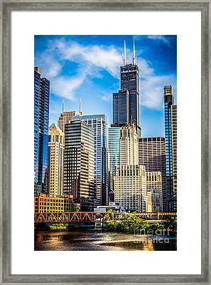 Chicago High Resolution Picture Framed Print by Paul Velgos