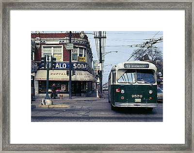Chicago Ice Cream Parlor  Framed Print