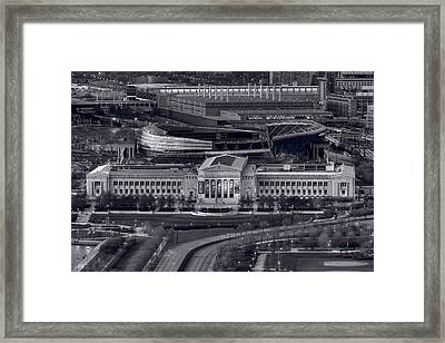 Chicago Icons Bw Framed Print