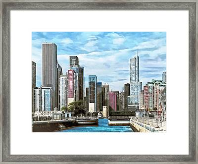 Chicago Il - Chicago Harbor Lock Framed Print