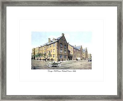 Chicago Illinois - Hull House - Halstead Avenue - 1906 Framed Print