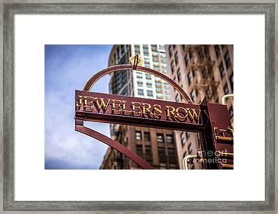 Chicago Jewelers Row Sign  Framed Print