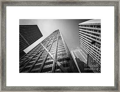 Chicago John Hancock Building In Black And White Framed Print