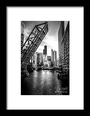 Downtown Chicago Framed Prints