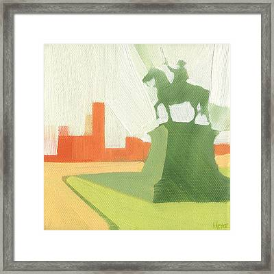 Chicago Kosciuszko Statue 15 Of 100 Framed Print by W Michael Meyer