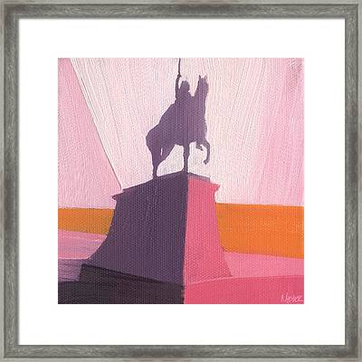 Chicago Kosciuszko Statue 16 Of 100 Framed Print by W Michael Meyer