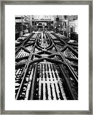 Chicago 'l' Tracks Winter Framed Print