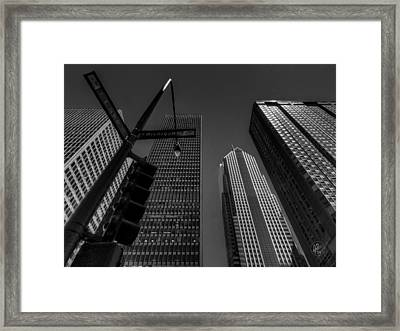 Chicago - Lake And Michigan 001 Framed Print