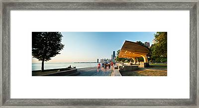 Chicago Lakefront Panorama Framed Print