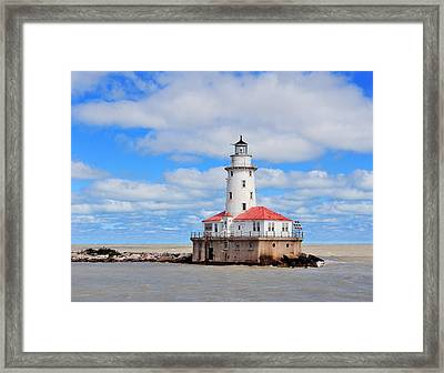 Chicago Light House Framed Print