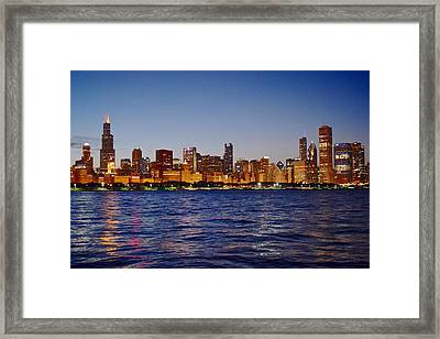 Chicago Lights Framed Print by Frozen in Time Fine Art Photography
