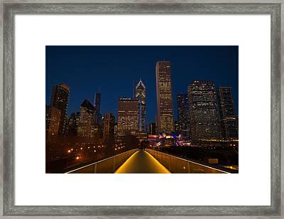 Chicago Lights Framed Print by Steve Gadomski