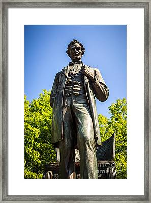 Chicago Lincoln Standing Statue Named The Man Framed Print by Paul Velgos