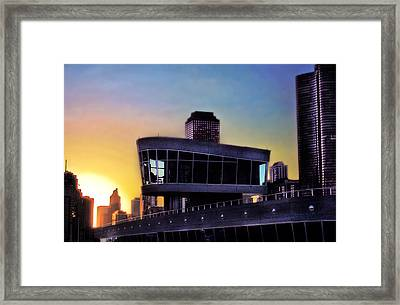 Framed Print featuring the photograph Chicago Lock Tower by John Hansen
