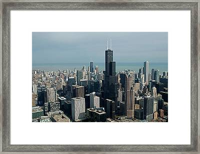 Chicago Looking East 04 Framed Print