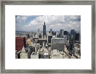 Chicago Loop Aerial Framed Print by Adam Romanowicz