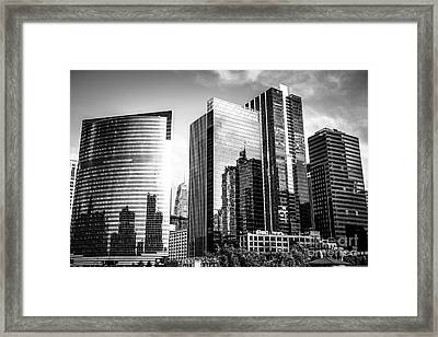 Chicago Loop Black And White Picture Framed Print by Paul Velgos