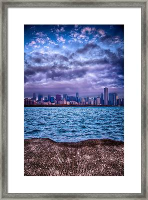 Chicago Lost In The Clouds Framed Print