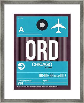Chicago Luggage Poster 1 Framed Print by Naxart Studio