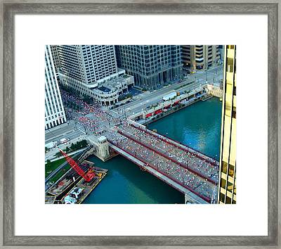 Chicago Marathon 2008 Framed Print