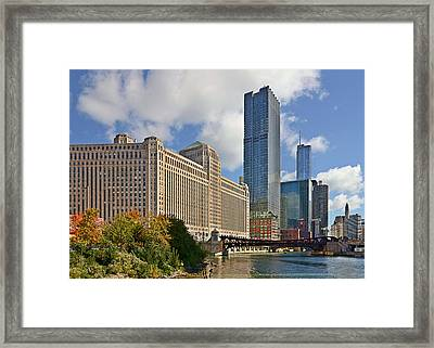 Chicago Merchandise Mart Framed Print by Christine Till