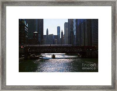 Chicago Morning Commute Framed Print