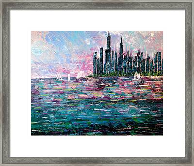 Chicago Morning - Sold Framed Print