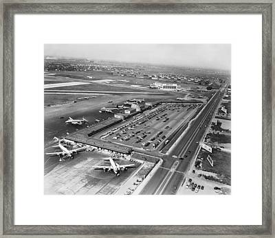 Chicago Municipal Airport Framed Print by Underwood Archives
