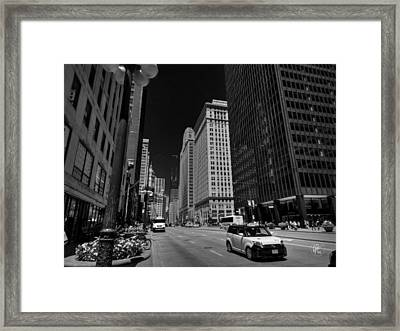Chicago - N Michigan Ave 001 Framed Print by Lance Vaughn