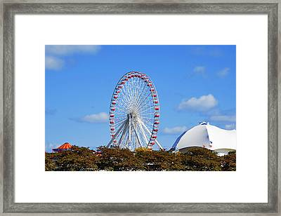 Chicago Navy Pier Ferris Wheel Framed Print by Christine Till