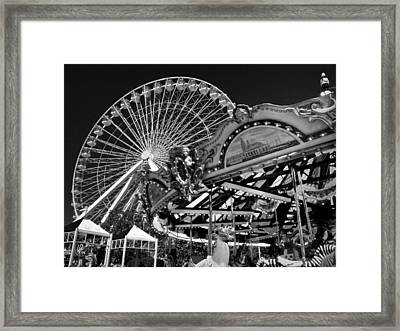 Chicago - Navy Pier - Pier Park 001 Framed Print by Lance Vaughn