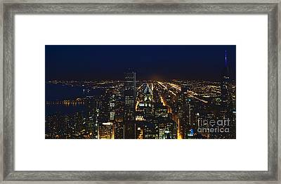 Chicago Night Lights Framed Print