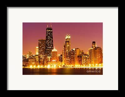 Center Glow Framed Prints