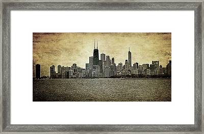 Chicago On Canvas Framed Print