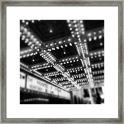 Chicago Oriental Theatre Lights Framed Print