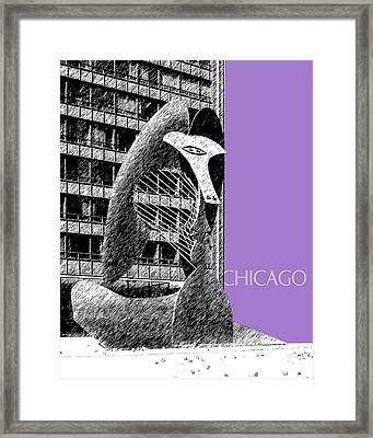 Chicago Pablo Picasso - Violet Framed Print by DB Artist