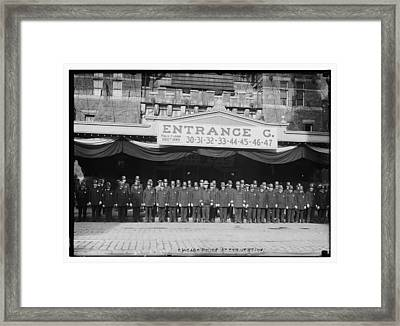Chicago Police At Republican National Convention Framed Print by Historic Photos