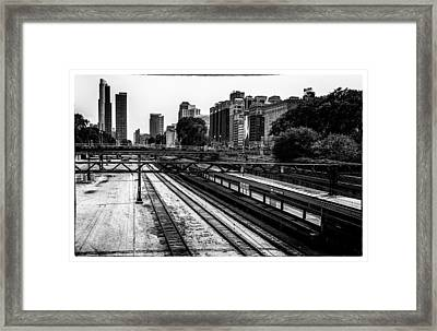 Framed Print featuring the photograph Chicago Rail by James Howe