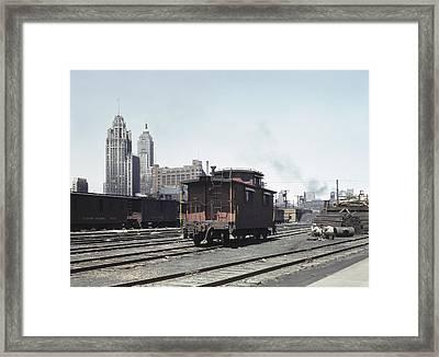 Chicago Railroad, 1943 Framed Print