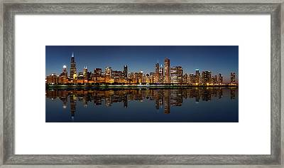 Chicago Reflected Framed Print