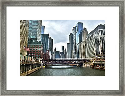 Chicago River And City Framed Print