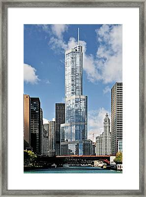 Chicago River - Beauty And Headache Framed Print