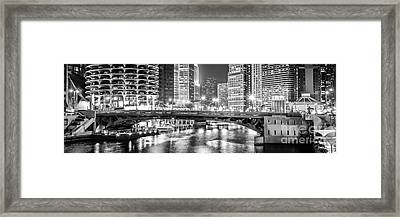 Chicago River Dearborn Street Bridge Panorama Photo Framed Print by Paul Velgos