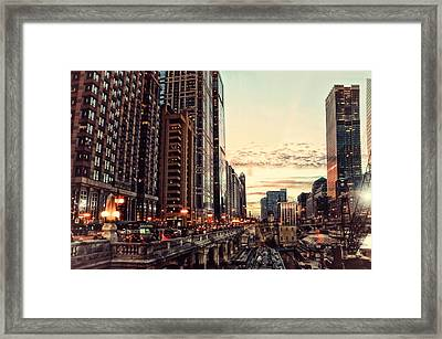 Chicago River November Hdr Framed Print by Thomas Woolworth
