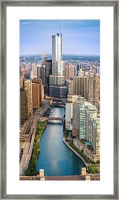 Chicago River Sunrise Framed Print by Steve Gadomski